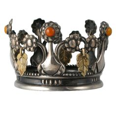 1stdibs - GEORG JENSEN Very Rare Bridal Crown 1911 explore items from 1,700  global dealers at 1stdibs.com