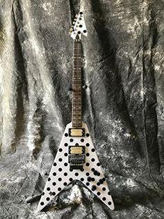 Starshine Randy Rhoads Polka Dot flying v electric guitar standard size floyd rose special bridge
