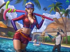 Fortnite's Paradise Palm Pool Party by ramzapsyru fortnite battle skins memes Arley Queen, Rainbow Six Siege Art, Skin Images, Gamer Pics, Best Gaming Wallpapers, Epic Games Fortnite, Battle Royale Game, Sexy Drawings, Striders