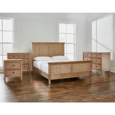 Home Decorators Collection Marsden Patina Finish King Cane Bed in. W x 54 in. H) 10756 - The Home Depot Wood Bedroom Sets, Oak Bedroom, Wood Bedroom Furniture, Bedding Master Bedroom, Guest Bedrooms, Furniture Design, Funky Furniture, Painting Furniture, Bedroom Inspo
