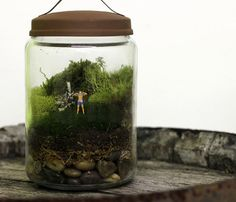 Brooklyn's Twig Terrariums creates magical miniature worlds filled with figurines that delight the eye: sweet reminders, romantic reminders, a sculptor at work. Some are assembled, some are DIY—but they're all beautiful. Twig Terrariums, Mini Terrarium, Terrarium Ideas, Fake Plants, Indoor Plants, Potted Plants, Globe Image, Best White Elephant Gifts, Gifts For Hubby
