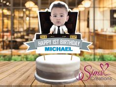 Personalized Boss Baby Cake Topper Printable, Boss Baby Centerpiece, Custom Photo Boss Baby Topper, Boss Baby Birthday Cake decorations by SimsLuvCreations