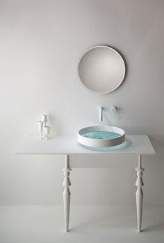 Basin by Omvivo // cabinet-sink-shape-idea-minimalist