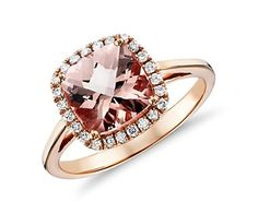 Morganite and Diamond Halo Cushion Ring (http://www.bluenile.com/morganite-diamond-cushion-ring-14k-rose-gold_33539?track=si#)