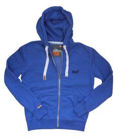 Superdry Mens Orange Label Ziphood - Polo Purple Marl or Cartridge Blu – Moyheeland Traders