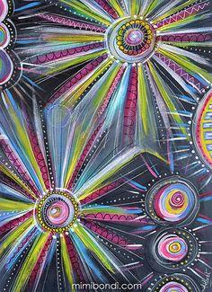 Let it Shine | mixed media painting by Mimi Bondi