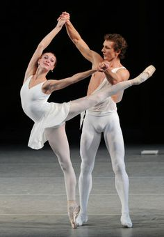 Olga Smirnova and Semyon Chudin in the Bolshoi Theatre's 'Apollo' (Balanchine).