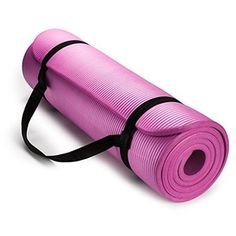 HemingWeigh Extra Thick High Density Exercise Yoga Mat with Carrying Strap (Pink) long wide ensures comfort for people of all shapes and sizes. Ideal for yoga, pilates, … Toning Workouts, Mat Exercises, Pilates Workout, Pilates Reformer, Weight Workouts, Hip Workout, Gym Mats, Yoga Mats, Workout Essentials