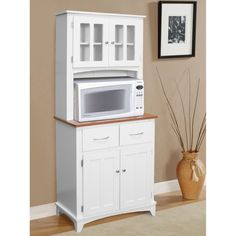 this one, but I think our microwave is too big. Hazelwood Home Brook Microwave Cart Decor, Furniture, Kitchen Furniture, Home, Home Furniture, Microwave Cabinet, Kitchen, Kitchen Dining Furniture, Hazelwood Home