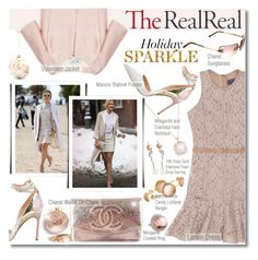 """""""Holiday Sparkle With The RealReal: Contest Entry"""" by margaretferreira ❤ liked on Polyvore featuring Chanel, Lanvin, Manolo Blahnik, Valentino, Ippolita, David Jones, sparkle, shimmer, holidaystyle and winterstyle"""