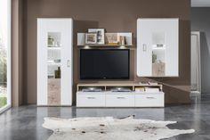 Biela arctic / Dub san remo sand / Biela arctic Remo, Flat Screen, The Unit, Interior Design, Furniture, Home Decor, Blood Plasma, Nest Design, Decoration Home