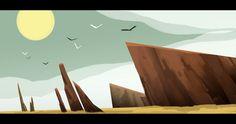 Arkenn Environment Concept, Environment Design, Animation Background, Art Background, Examples Of Concepts, Landscape Concept, Illustration Art, Illustrations, Character Design Animation