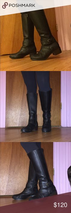 Ugg Pure Black Riding Boots size 8 Please view other post for description. UGG Shoes