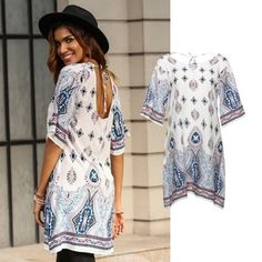 Shop for cheap, stylish blouses & tunic tops for women online ✓Top trends 2019 ✓Amazing quality & price ✓Secure delivery & easy returns Tunic Blouse, Tunic Tops, Neue Trends, Shirt Sleeves, Outfit, Short Sleeve Dresses, Stylish, Casual, Shirts