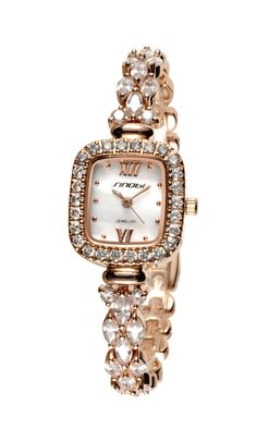1179 Square copper women s jewelry watch with Swarovski crystal elements 6bf4ad9c60