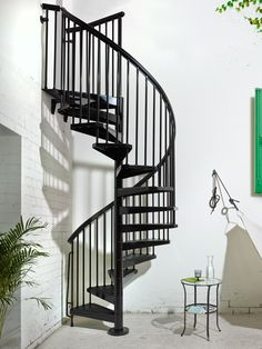 Katydidandkid gives outdoor spiral stairs that are the perfect equilibrium of design as well as resilience with custom coatings and style options. Spiral Staircase Outdoor, Loft Staircase, White Staircase, Modern Staircase, Staircase Design, Stair Kits, Lofts, Rustic Home Design, Iron Doors