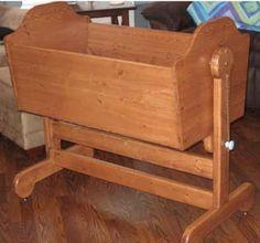 Pine Baby Cradle