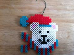 I made various Christmas ornaments using Perler Beads. I made reindeer, penguins, Santa, presents and polar bears (pictured here)