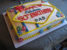 Dad's 50th Birthday Cake.