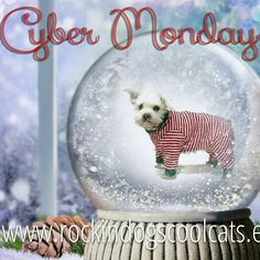 Cyber Monday sale! 15% off everything in my shop! Save on holiday pet apparel and everyday favorites only at RockinDogs & CoolCats  Final day for holiday orders is December 7th. Things are selling out so get your favorites before they're gone!