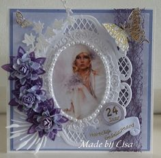 Voorbeeldkaart - birthday - Category: Scrap Cards - Hobbyjournaal your hobby website Card Birthday, Picture Cards, Scrap, Website, Frame, Inspiration, Decor, Paper Board, Picture Frame