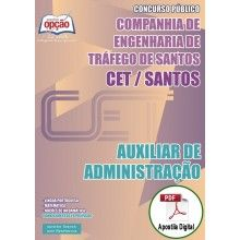Apostila Digital Concurso CET Santos 2015 - Auxiliar de Administração