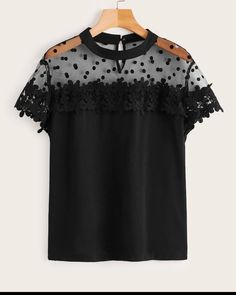To find out about the Plus Contrast Mesh Hollow Out Crochet Blouse at SHEIN, part of our latest Plus Size Blouses ready to shop online today! Plus Size Blouses, Plus Size Dresses, Plus Size Outfits, Plus Size Womens Clothing, Plus Size Fashion, Skirt Fashion, Fashion Outfits, Plus Size Tips, Plus Size Summer