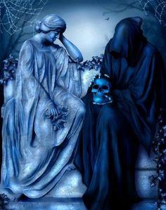 [Fantasy art] Aeternum Vale by sabarlynn at Epilogue Grim Reaper Art, Don't Fear The Reaper, Death Reaper, Dark Gothic Art, Dark Art, Fantasy Kunst, Fantasy Art, Science Fiction Art, Angel Of Death