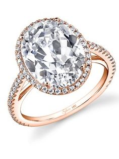 Oval Engagement Ring (© Courtesy of the Designer / The Knot)