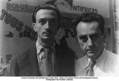 Salvador Dalí and Man Ray in Paris, 1934...... De mis amados! Hermosas miradas... Locos de mi corazón!!!