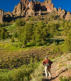 The Pacific Crest Trail takes in everything from the vivid red Vasquez Rocks near Los Angeles to the deep blue waters and snowcapped peaks of Crater Lake in Oregon—not to mention Yosemite, Sequoia National Park, and the Sierra Nevadas in between. Shown, the Sonora Pass in California's Stanislaus National Forest.