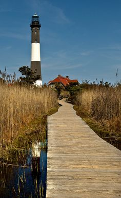Long Island - robert moses state park..  lighthouse great boardwalks to get to it