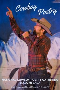 Exploring the foreign world of cowboy poetry at the National Cowboy Poetry Gathering Elko Nevada. Usa Travel Guide, Travel Usa, Travel Guides, Travel Tips, Travel Advice, Travel Info, Travel Destinations, Girls Love Travel, Travel Couple
