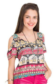Blusa estampada elefante floral | Dress to                                                                                                                                                     Mais