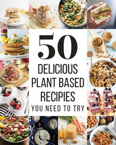 50 Plant-Based Recipes You Need To Try -- This post contains 50 plant-based recipes that the internet has to offer. From breakfast to desserts to lunch, dinner, and everything in between, you'll be sure to discover some amazing recipes here! #plantbasedrecipes #roundup #veganrecipes #healthy #cleaneating | mindfulavocado