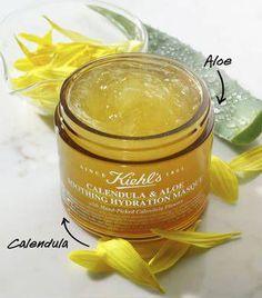 Calendula & Aloe Soothing Hydration Mask #OrganicFaceMoisturizer Gel Face Mask, Face Masks, Aloe Vera Face Mask, Sugar Scrub Diy, Piel Natural, Acne Remedies, Tips Belleza, Best Face Products, Beauty Products