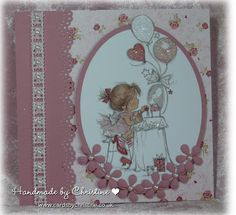 LOTV - Party and Cake Art Pad. Card by Christine Levison