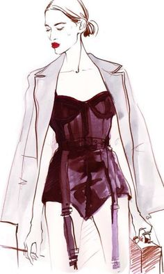 16 ideas moda fashion illustrations drawings fashion drawing sketches mood boards 44 new ideas Lingerie Illustration, Fashion Illustration Sketches, Illustration Mode, Fashion Sketches, Fashion Design Illustrations, Dress Sketches, High Street Fashion, Fashion Days, New Fashion
