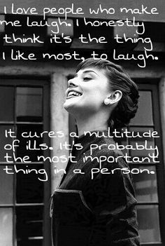 Laughter quote ~Audrey Hepburn