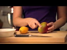 How to Cut a Mango  We take the mystery out of cutting a mango.  Cutting a mango doesn't have to be a mystery. National Mango Board's Megan McKenna covers all your mango basics - how to select a mango from the grocery store, cut it up and share it wilth your family and friends.  Easy Ways to Cut a Mango  A mango has one long, flat seed in the center of the fruit. Once you learn how to work around the seed, the rest is easy.