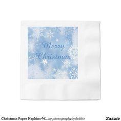 Christmas Paper Napkins-Winter Wonderland