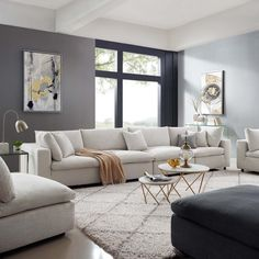 Cozy Living Rooms, Living Room Grey, Living Room Modern, Home Living Room, Living Room Interior, Family Room Furniture, Comfortable Living Rooms, Scandinavian Living Rooms, Contemporary Living Room Designs