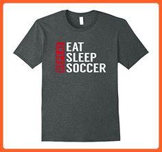 Mens Eat Sleep Soccer Repeat Funny Sports Quote T-Shirt Gag Gift Medium Dark Heather - Sports shirts (*Partner-Link)