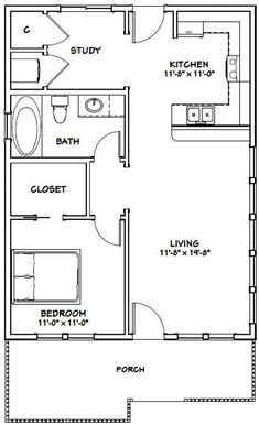 PDF house plans, garage plans, & shed plans. by wilda 5 stars 1 Bedroom House Plans, Guest House Plans, Small House Floor Plans, Cabin Plans, Shed House Plans, A Frame Floor Plans, Two Bedroom Tiny House, Tiny Guest House, Small Bathroom Floor Plans