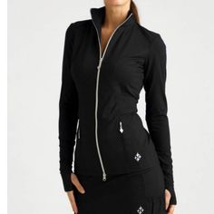 All by Jofit Thumbs Up Jacket Black Size Small All by Jofit Thumbs Up Jacket. Awesome Condition! Never worn, but missing tags! The jacket has thumb holes as well. Women's Size Small. ***Make an Offer!*** Jofit Jackets & Coats