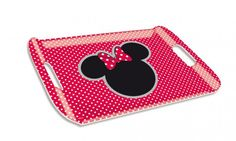 Disney Minnie Vassoio in Plastica, Accessori Cucina in melamina - Disney Minnie Tray