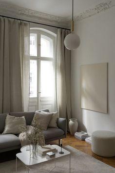 Extra Long, Home Themes, Interior And Exterior, Interior Design, New Condo, Paris Apartments, Linen Curtains, Bedroom Inspo, Home Look
