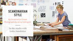 Scandinavian Style | Martha Stewart   Article on Lotta Jansdotter