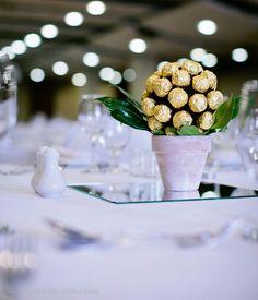 Ferrero Rocher topiary tree centrepiece