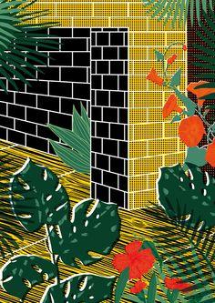 Bold, Brash and Brilliantly Fun Floral Prints by Elena Boils